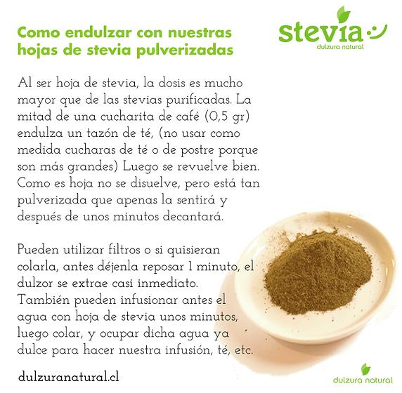 Como endulzar con stevia natural