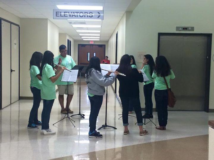 UTRGV Brownsville Flute Rehearsing