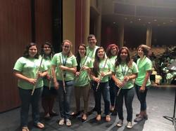 UTRGV flute student helpers!