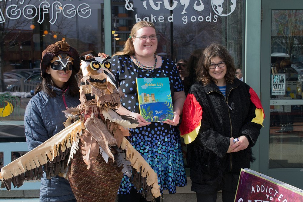 Me with the Cambridge Wildlife Puppetry Project!
