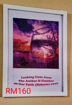 GLASS WITH BIBLE VERSE (PURPLE)