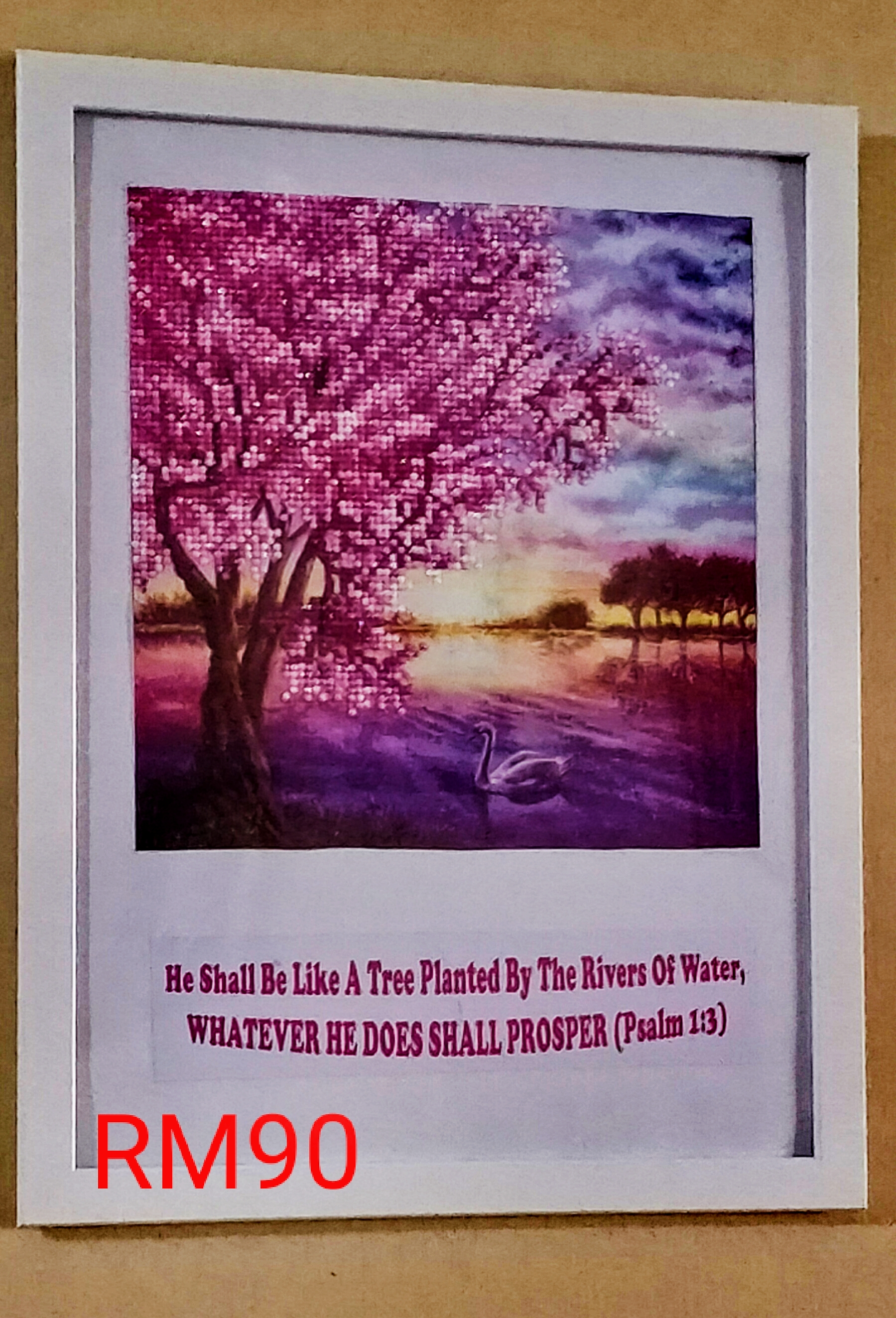 PINK TREE WITH BIBLE VERSE