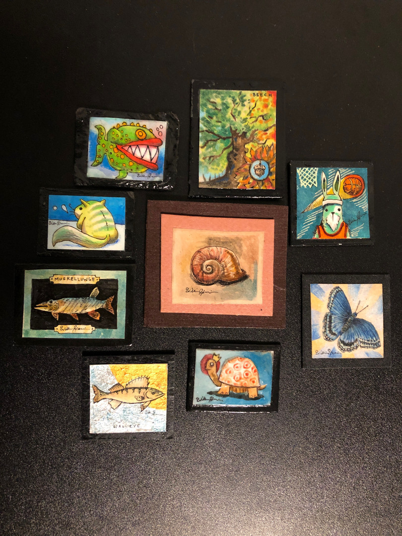 Ashton Wallin's Miniature Art Collection