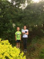 Tesa and Ari find hidden art!