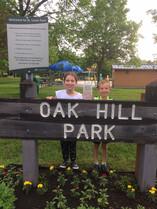 Tesa and Ari at Oak Hill Park