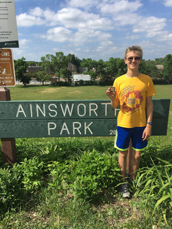 Denly with Art at Ainsworth PArk
