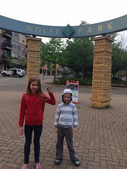 Celebrating at Wolfe Park