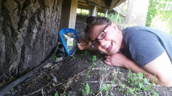 Lidia finds a butterfly!
