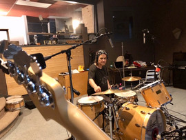 John M. recording drums