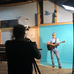 Morand records client on 'green' screen