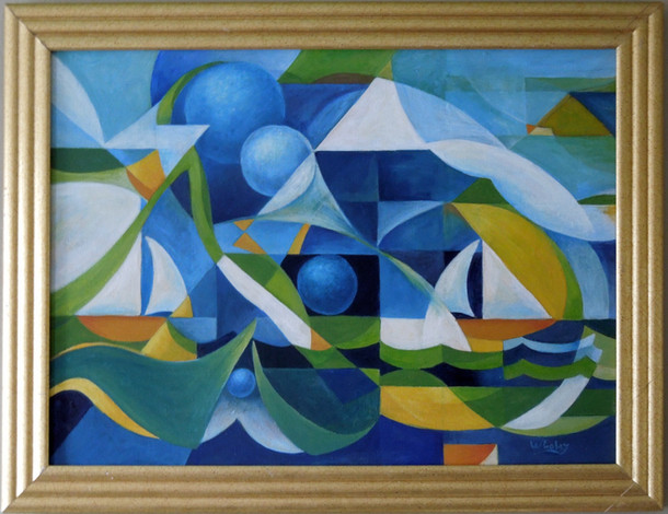 Two Sailboats and Four Spheres