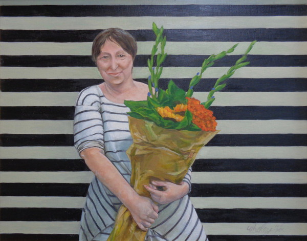 PORTRAIT OF ELDA WITH FLOWERS