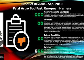 Petzl Astro, European Version, Harness Review Sep.2019