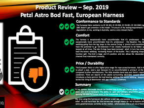 Petzl Astro, European Version, Harness Review Sep.2019