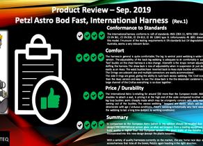 Petzl Astro, International Version, Harness Review Sep. 2019