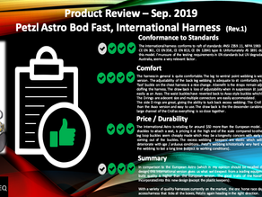 Petzl Astro, International Version, Harness Review Sep. 2019