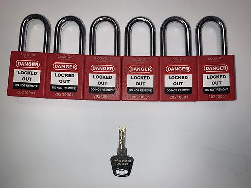 Lock-on® Australia - Personal Danger Locks - set of 6