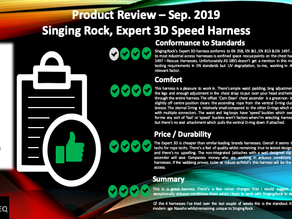 Singing Rock, Expert 3D, Harness Review Sep. 2019