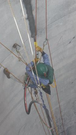 Rope Access abrasive blasting