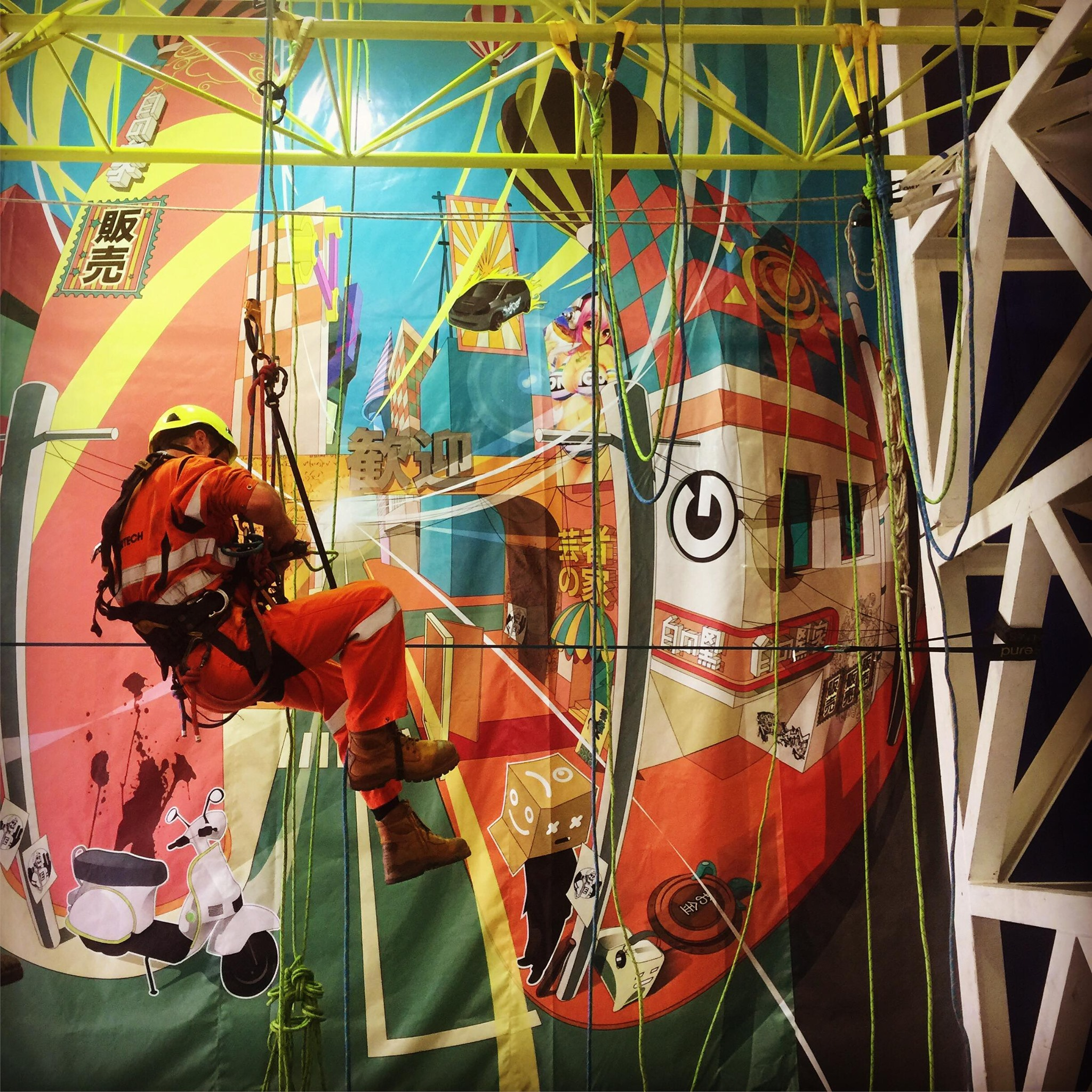 Perth rope access training  mural
