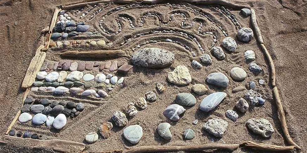 Beach art-thérapie à La plage de l'Ermitage-le-Bains