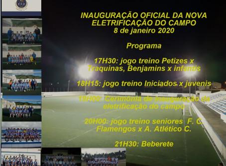 Flamengos inaugura hoje a Iluminação do seu Campo de Futebol