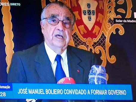 José Manuel Bolieiro indigitado Presidente do Governo dos Açores pelo Representante da República