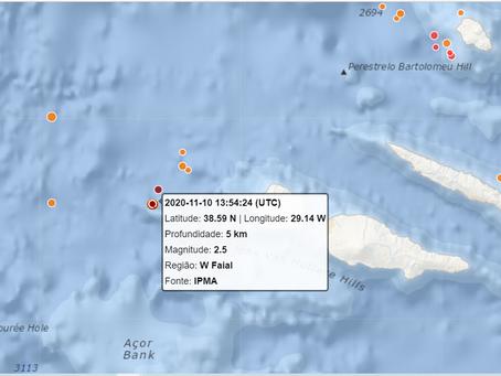 Registados dois sismos a oeste da ilha do Faial