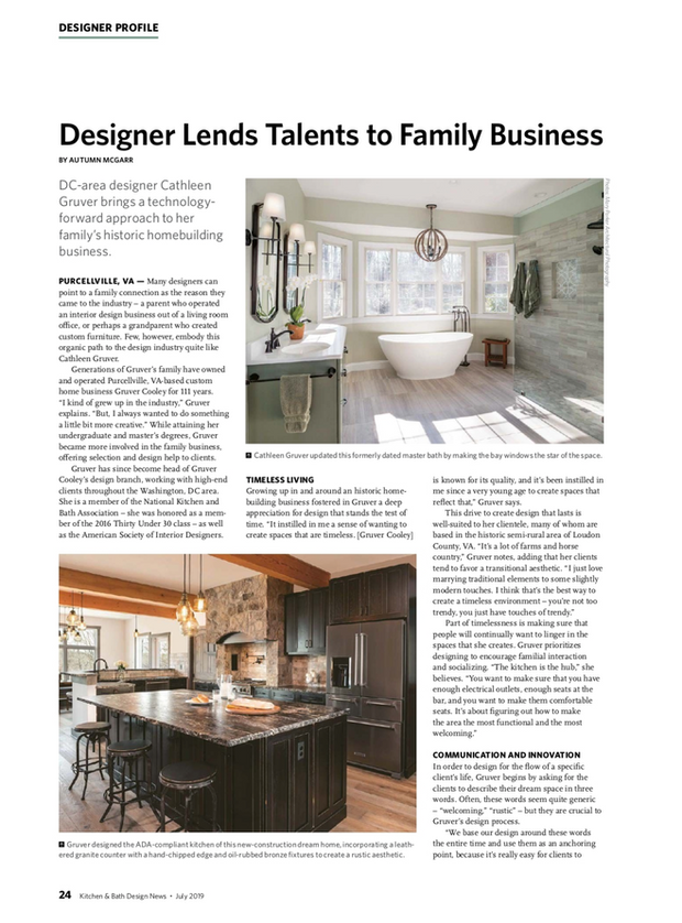 Gruver Cooley's Interior Designer Featured in Kitchen & Bath Design News