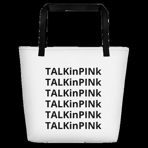 TALKinPINk PRINT Beach Bag