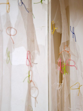 Curtain pairs, detail