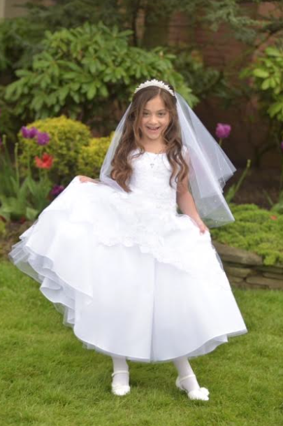 Dress from our Sweetie Pie Collection. Christie Helene Tiara & Veil