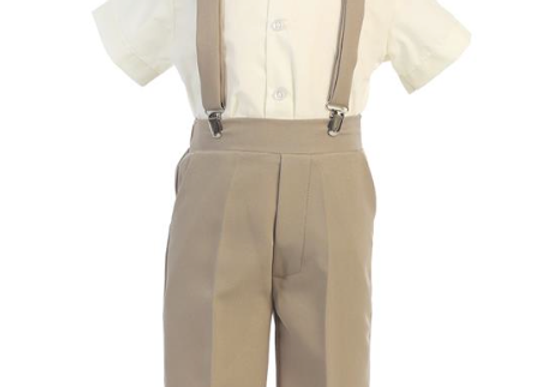 Big Boy Suspender pant set w/ hat - G825