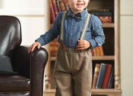 Tweed Suspender Pant Set
