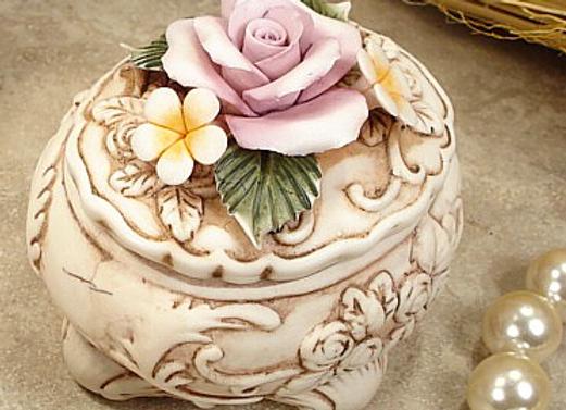 G20 - Oval Roses Capo Trinket Box