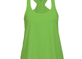 Lime Green Flare Tank
