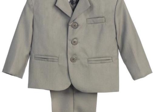 First Communion Suit - light grey