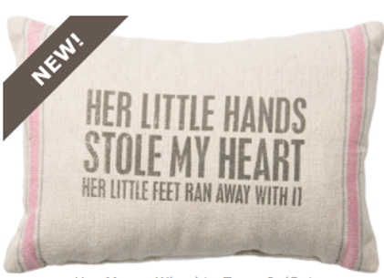 #27433 - Pillow - Little Hands PNK