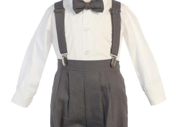Suspender knickers - Grey