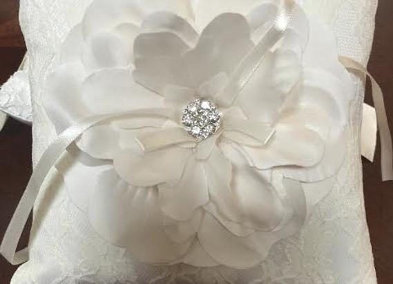 Ring Bearer Pillow- Center Flower