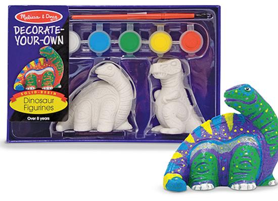 MELISSA & DOUG Decorate Your Own Dinosaur Figure