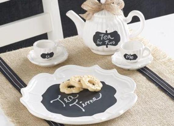 Chalkboard Tea set