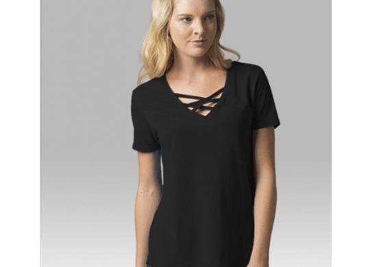 Criss Cross Tee - Black