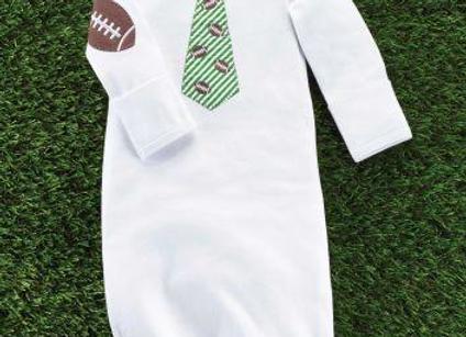 Football Tie Sleep Gown