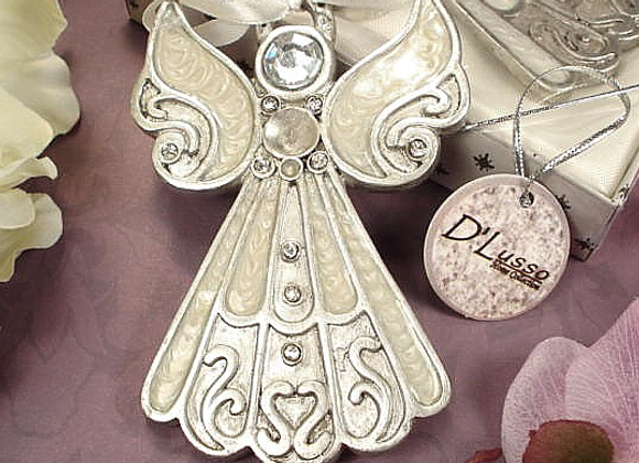 D1400 - Angel Hanging Ornament White Epoxy