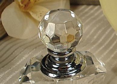 CR-Perfume - Mini Crystal Perfume Bottle In Satin