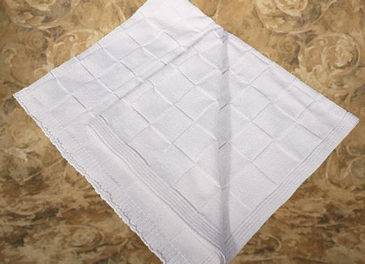 Cotton checkboard shawl/blanket - CKCSHAWL