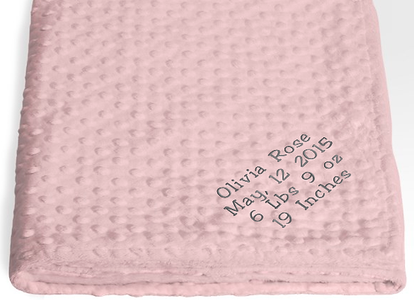Custom Receiving Blanket - Pink