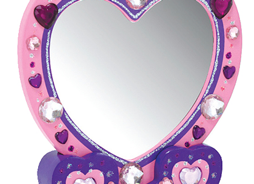 MELISSA & DOUG Decorate Your Own Heart Mirror