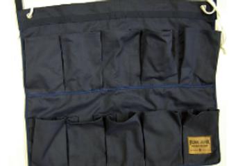 BJ539 Navy Bunk Junk 10 Pocket Shoe
